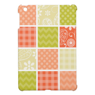 Salmon Coral Orange and Green Girly Patterns Cover For The iPad Mini