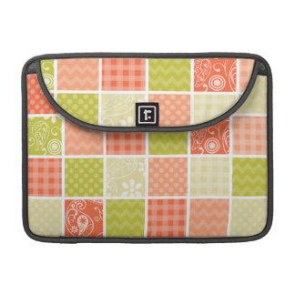 Salmon, Coral, Orange, and Green Girly Patterns Sleeve For MacBooks