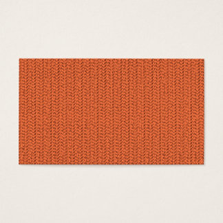 Salmon Coral Weave Mesh Look Business Card