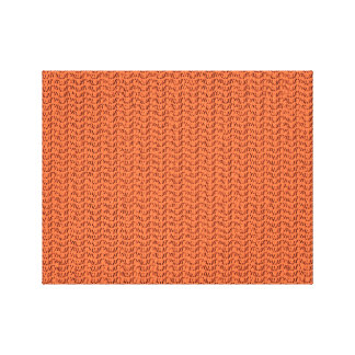 Salmon Coral Weave Mesh Look Canvas Print