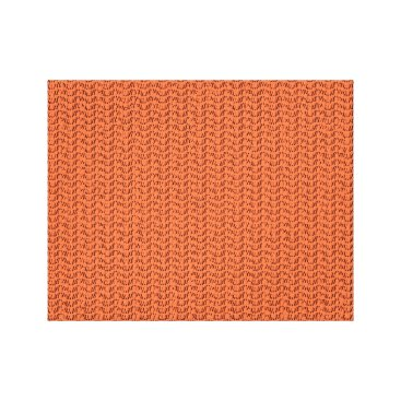 Beach Themed Salmon Coral Weave Mesh Look Canvas Print