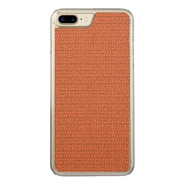 Beach Themed Salmon Coral Weave Mesh Look Carved iPhone 7 Plus Case