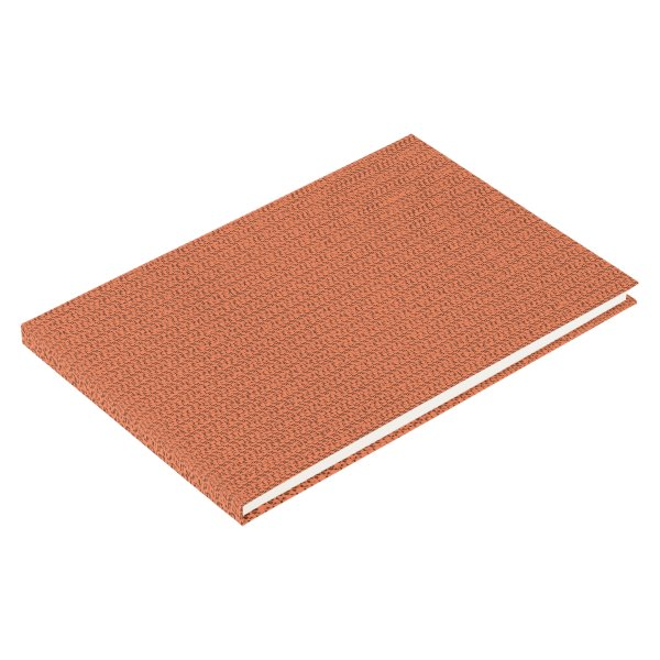 Salmon Coral Weave Mesh Look Guest Book