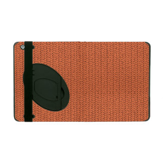 Salmon Coral Weave Mesh Look iPad Cover