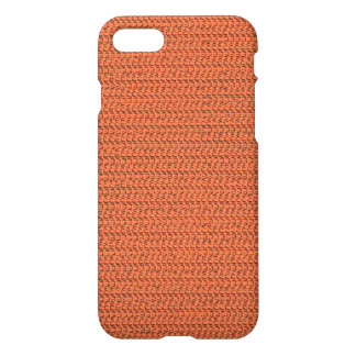 Salmon Coral Weave Mesh Look iPhone 7 Case