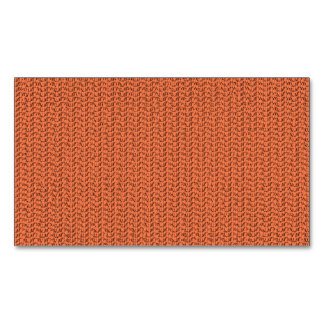 Salmon Coral Weave Mesh Look Magnetic Business Card