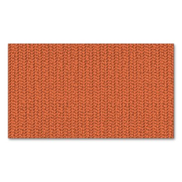 Beach Themed Salmon Coral Weave Mesh Look Magnetic Business Card