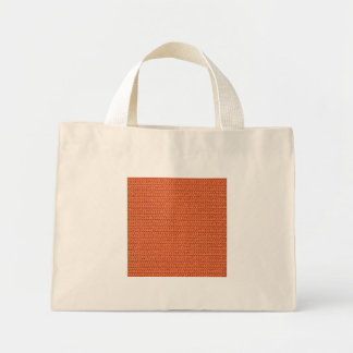 Salmon Coral Weave Mesh Look Mini Tote Bag