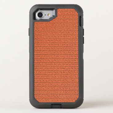 Beach Themed Salmon Coral Weave Mesh Look OtterBox Defender iPhone 7 Case