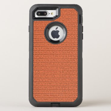 Beach Themed Salmon Coral Weave Mesh Look OtterBox Defender iPhone 7 Plus Case