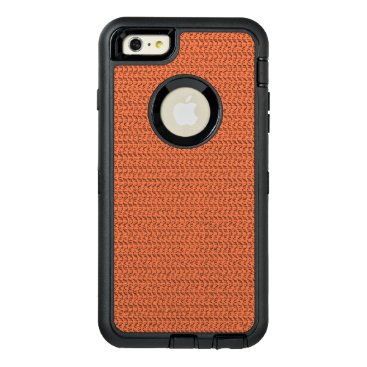 Beach Themed Salmon Coral Weave Mesh Look OtterBox Defender iPhone Case