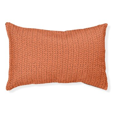 Beach Themed Salmon Coral Weave Mesh Look Pet Bed