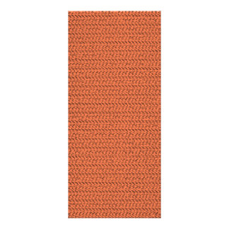 Salmon Coral Weave Mesh Look Personalized Rack Card