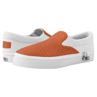 Beach Themed Salmon Coral Weave Mesh Look Slip-On Sneakers