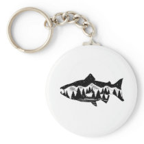 Salmon Country Keychain