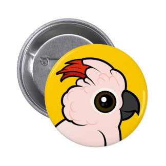 Salmon-crested Cockatoo Pinback Button