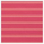[ Thumbnail: Salmon & Crimson Colored Stripes Fabric ]