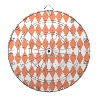 Salmon Diamond Modern Retro Pattern Dart Boards