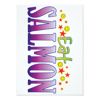Salmon Eat 5.5x7.5 Paper Invitation Card