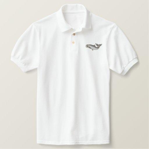 Salmon Embroidered Polo Shirt