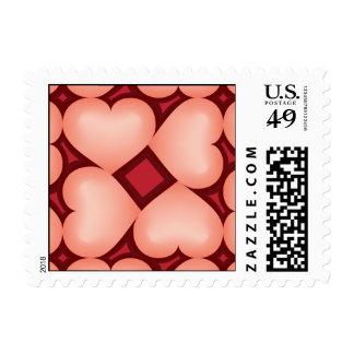 Salmon fade hearts tile pattern postage