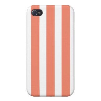 Salmon Fashion Stripe Iphone 4 Case