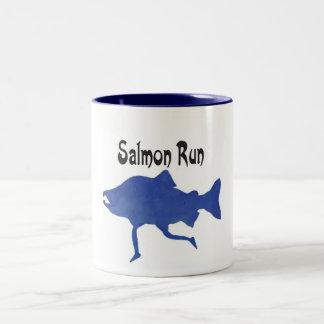 Salmon (FISH) Two-Tone Coffee Mug