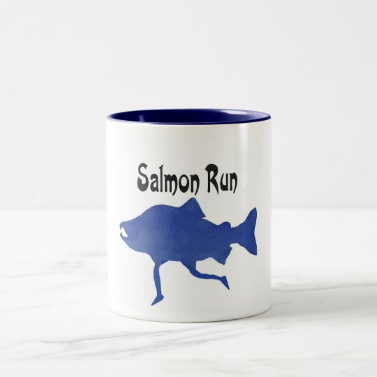 Salmon (FISH) Two-Tone Coffee Mug