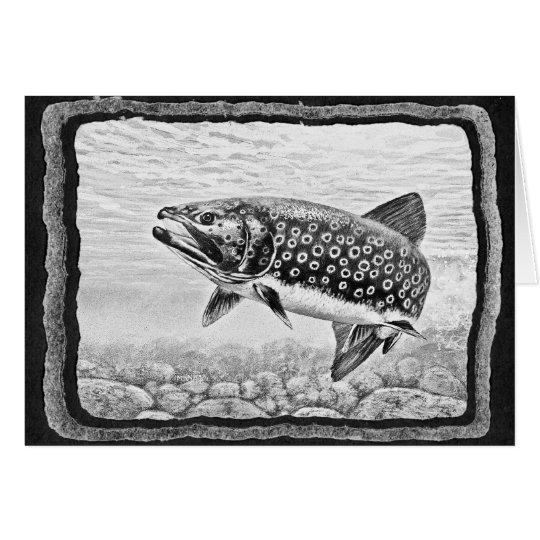 Salmon Fishing Art Card