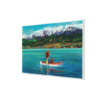Salmon Fishing in Port Angeles Harbor Canvas Print