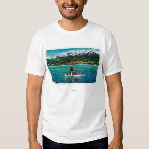 Salmon Fishing in Port Angeles Harbor Tee Shirts