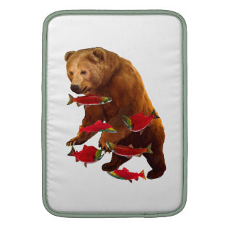 Salmon fishing MacBook sleeve