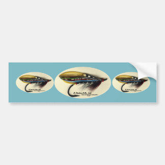 Salmon Fly- Black Doctor feather wing Bumper Sticker