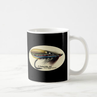Salmon Fly- Black Doctor feather wing Coffee Mug
