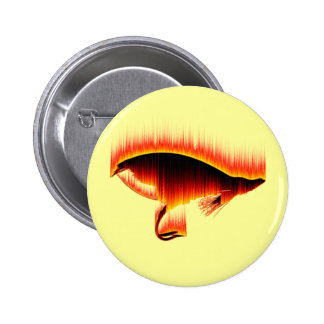 Salmon Fly Fire design Button