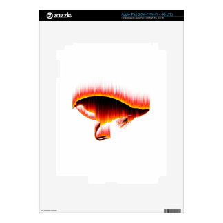 Salmon Fly Fire design iPad 3 Decals