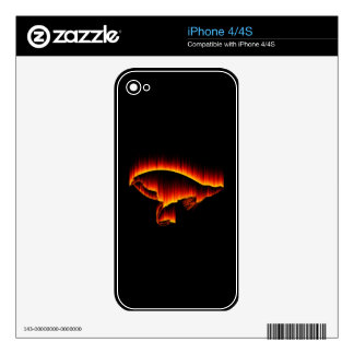 Salmon Fly Fire design iPhone 4 Skins