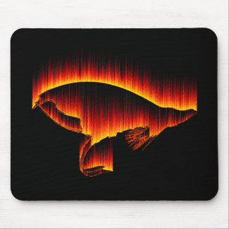 Salmon Fly Fire design Mouse Pad