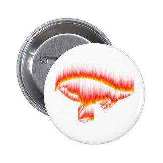 Salmon Fly Fire design Pinback Button