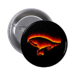 Salmon Fly Fire design Pinback Button