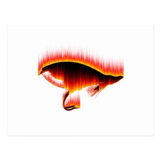 Salmon Fly Fire design Postcard