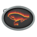 Salmon Fly Flame design Belt Buckles