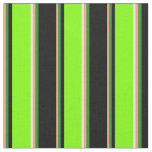 [ Thumbnail: Salmon, Forest Green, Black, Chartreuse & White Fabric ]