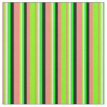 [ Thumbnail: Salmon, Green, Bisque, Lime, and Black Lines Fabric ]