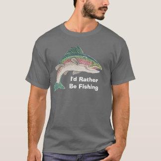 Salmon I'd Rather Be Fishing T-Shirt