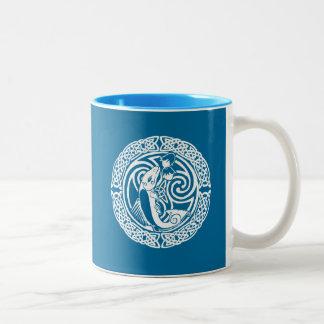Salmon in Snow Two-Tone Coffee Mug