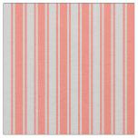 [ Thumbnail: Salmon & Light Gray Pattern Fabric ]