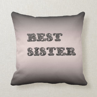 Salmon metallic Best Sister Cushion Pillow