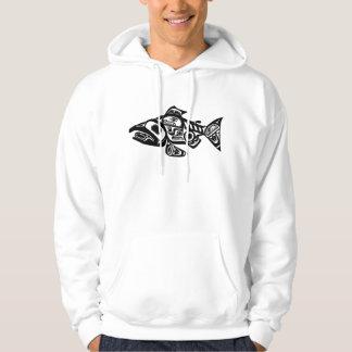Salmon Native American Design Pullover