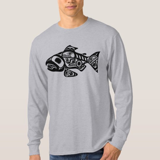 Salmon Native American Design T Shirt